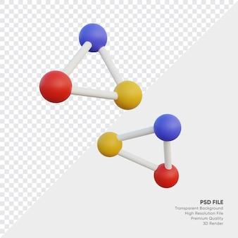 Compartilhar ilustração 3d de conexão