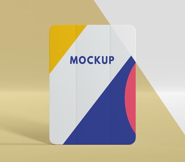 Composição criativa do mock-up da caixa do tablet