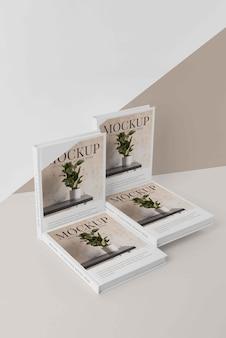 Composição da capa do livro mock-up