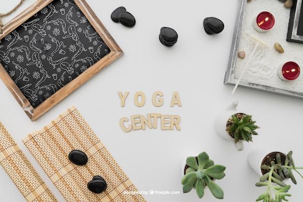 Composição da ioga com letras