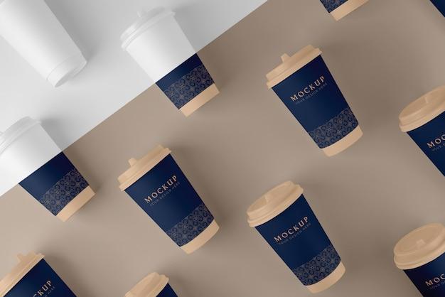 Composição da maquete de elementos da cafeteria