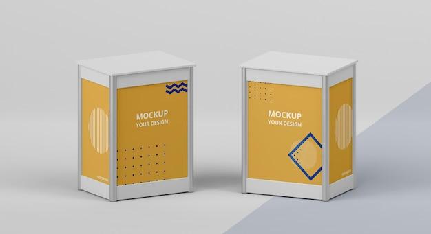 Composição da maquete do estande da exposição