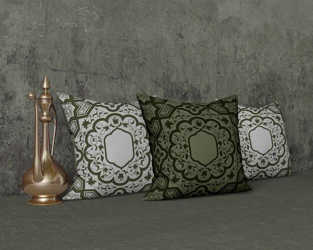 Composição de diferentes objetos do ramadã