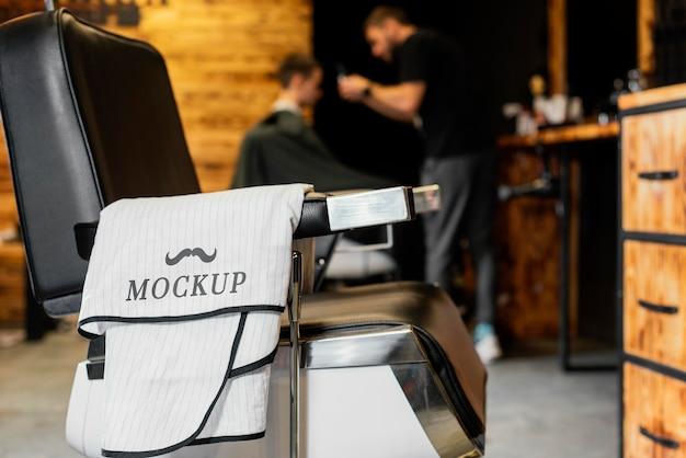 Composição de maquete de barbearia