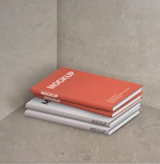 Composição de maquete de livros