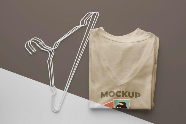 Composição de mock-up de camiseta japonesa