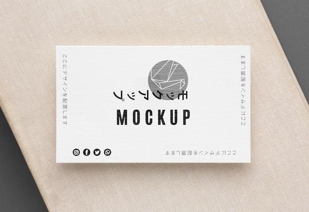 Composição de mock-up de cartão de visita plana