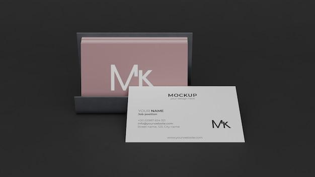 Composição de mock-up de cartão de visita