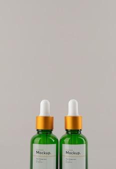 Composição de mock-up de conta-gotas de óleo cosmético