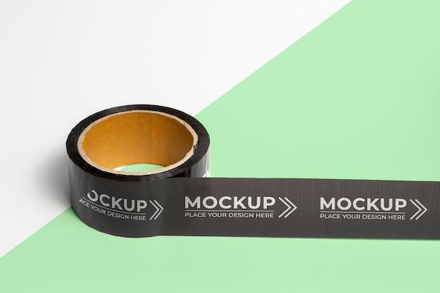 Composição de mock-up de fita de embalagem
