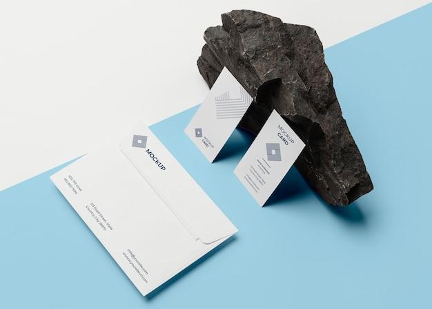 Composição de papelaria da marca mock-up