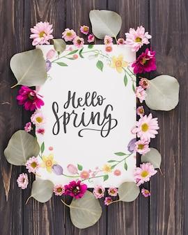 Composição de quadro floral para a primavera