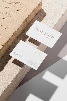 Composição do cartão de visita mock-up