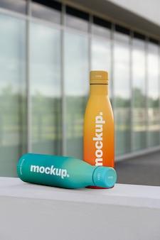 Composição do mock-up da garrafa de água