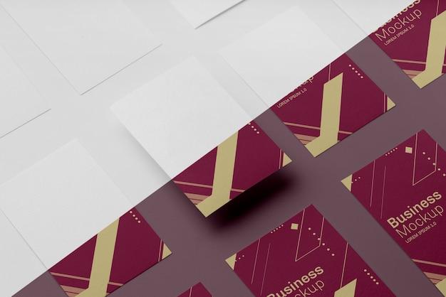 Composição do mock-up do cartão de visita