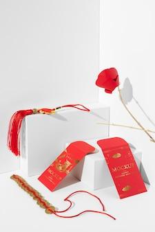 Composição isométrica do ano novo chinês