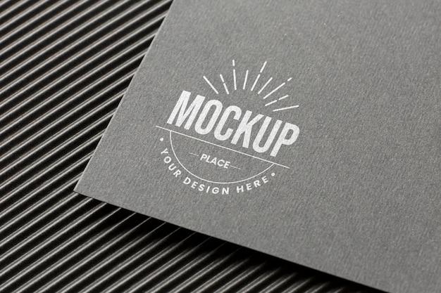Composição mínima com modelo de cartão de branding da empresa