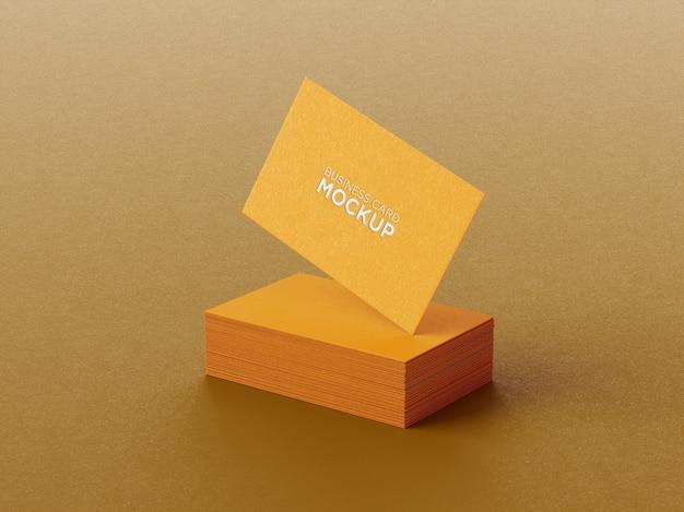 Composição minimalista de maquete de cartão de visita