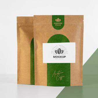 Composição minimalista do mock-up doypack