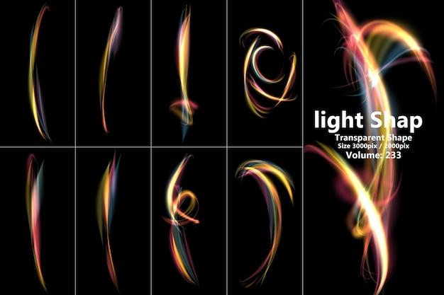 Composição realista de efeitos de luz