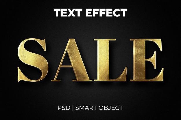 Compra editável de efeito de texto de venda e estilo de texto de oferta