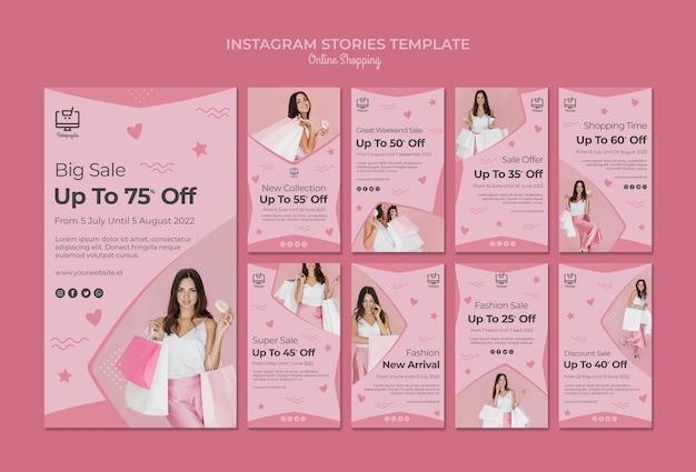 Compras on-line instagram stories