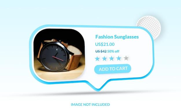 Compras online adicionar ao carrinho de maquete de comércio eletrônico isolado