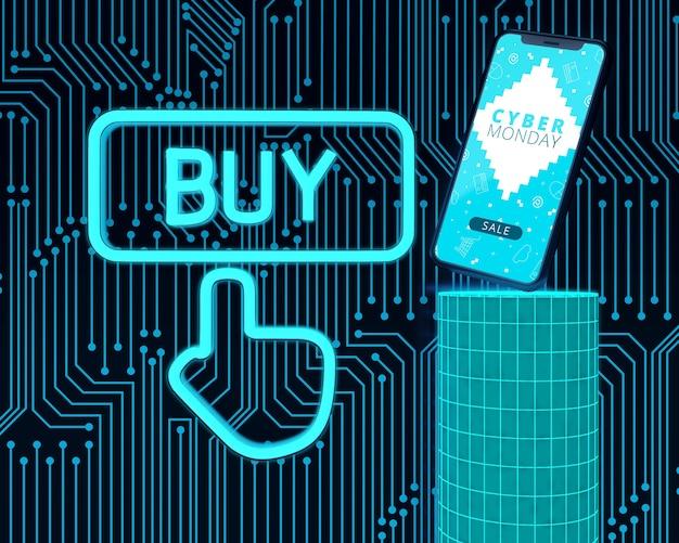 Compre agora telefone cyber segunda-feira de alta tecnologia