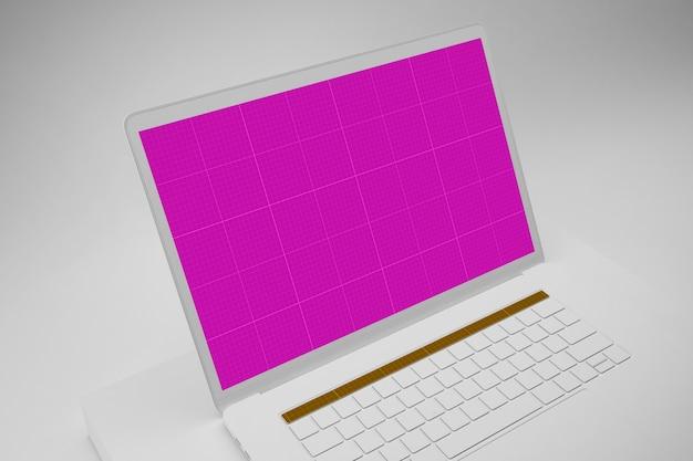 Computador portátil com tela de maquete