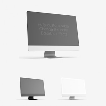 Computador realista mock up