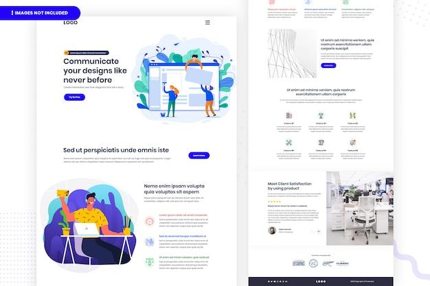 Comunique a página do site de designs