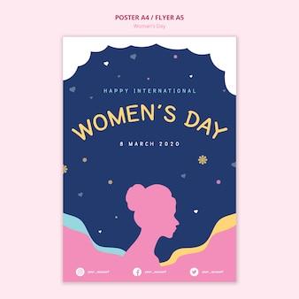 Conceito abstrato de cartaz de dia das mulheres