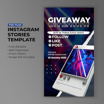 Conceito criativo retro 3d minimalista instagram