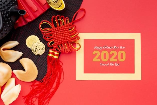Conceito de ano novo chinês bonito