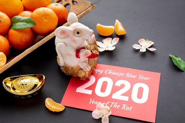 Conceito de ano novo chinês com maquete