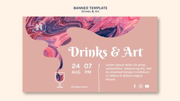 Conceito de banner de bebidas e arte