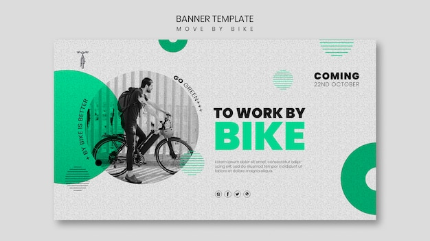 Conceito de banner de movimento de bicicleta