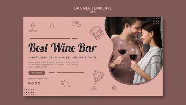 Conceito de banner de vinho para o modelo