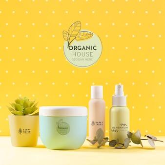 Conceito de beleza com cosméticos orgânicos