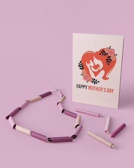 Conceito de cartão de dia das mães com maquete