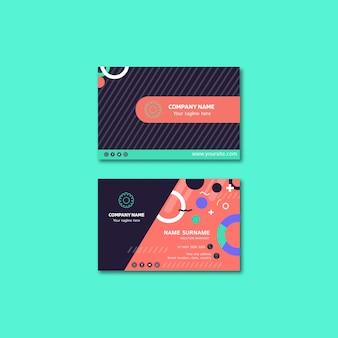 Conceito de cartão de visita para