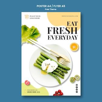 Conceito de cartaz de comida saudável