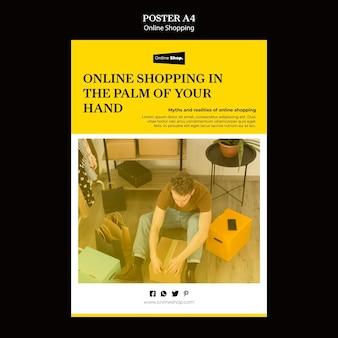 Conceito de cartaz de compras online