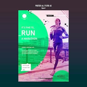 Conceito de cartaz de modelo de esporte