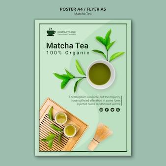 Conceito de chá matcha para cartaz