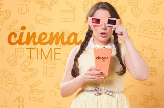 Conceito de cinema primavera pastel