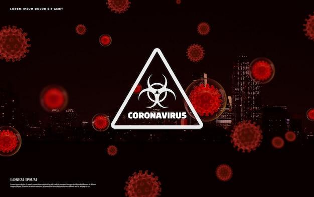 Conceito de coronavírus 2019-ncov