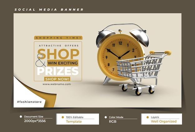 Conceito de fitness com mobile mockup marketing digital horizontal