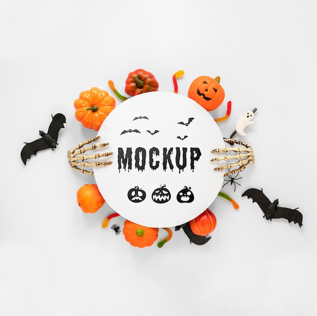 Conceito de halloween estilo mock-up