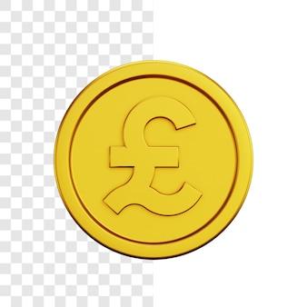 Conceito de ilustração 3d de moeda de dólar de ouro